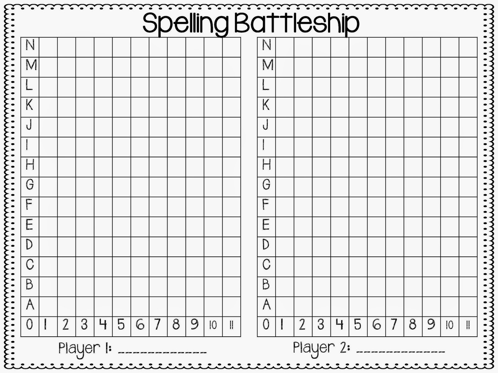 This is a picture of Slobbery Battleship Game Printable