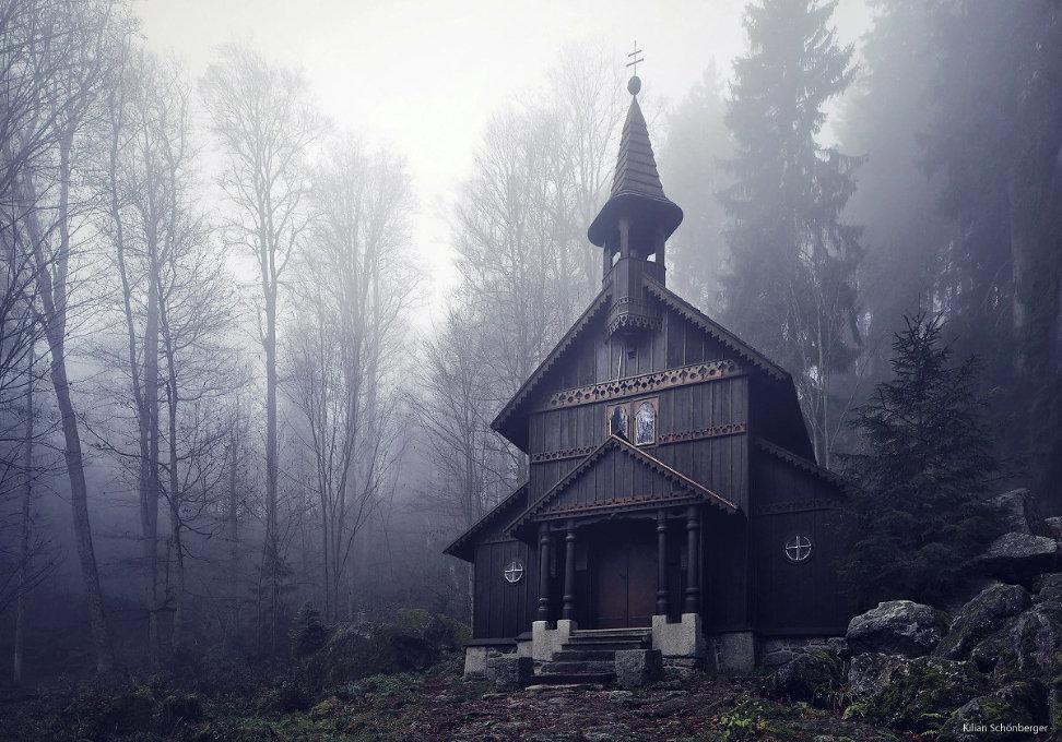gothic fairytale forest church