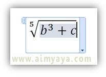 Gambar: Cara menulis persamaan di equation editor Microsoft Word