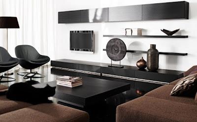 Moderna y fresca habitaci n de color verde - Muebles para salas de estar ...