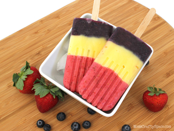 Strawberry-Blueberry Pops Recipe — Dishmaps