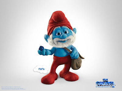 The Smurfs movie official poster of papa