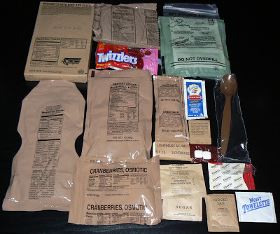 MRE Review: Menu 20, contents