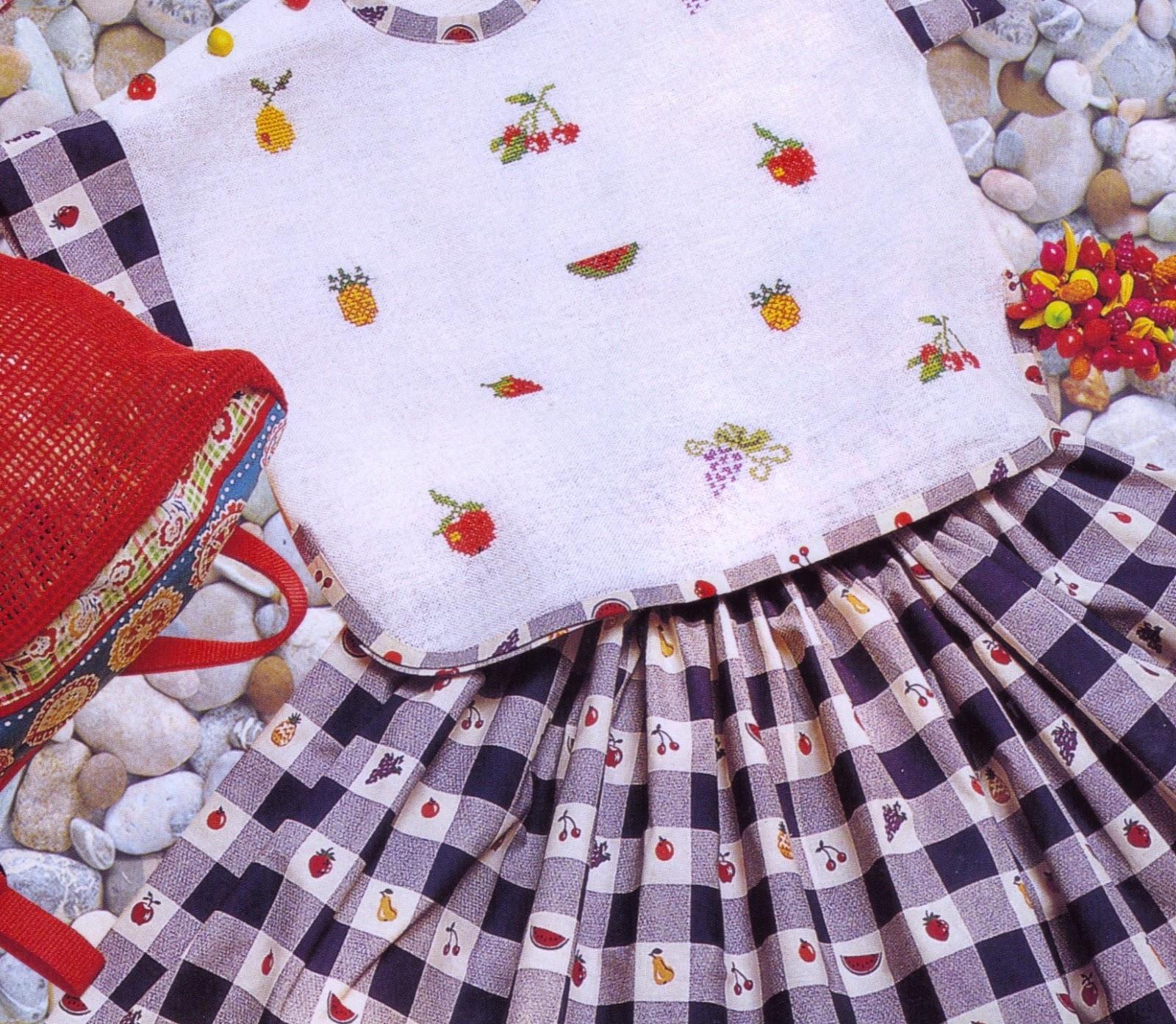 Punto de cruz para vestidos de nina