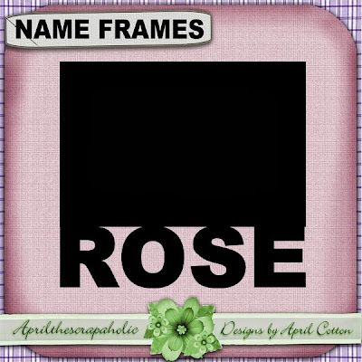 ROSE - BLACK NAME FRAME