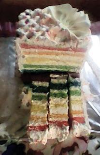 cara buat kue pelangi atau rainbow cake