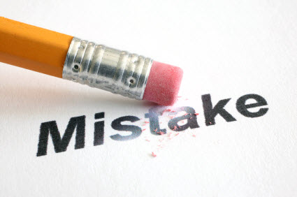 Mistake can't erase