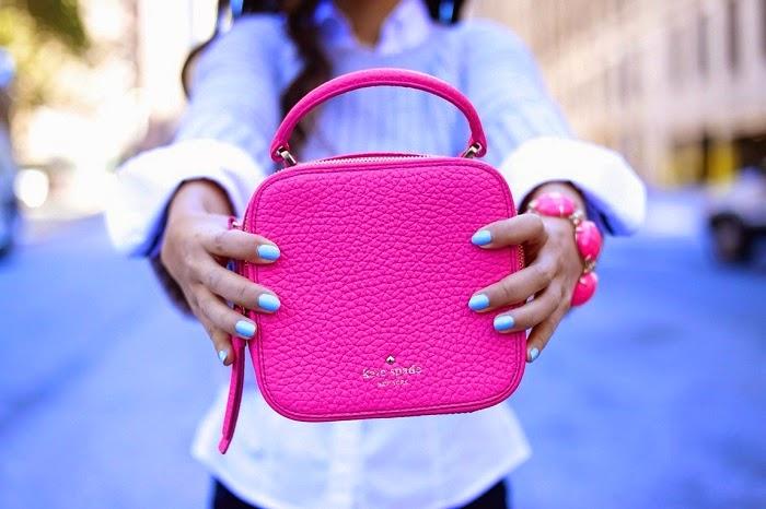 BloggersForBCA,breastcancerawareness,popofpink,clubmonaco,kendrascott,katespade,unif,schutz,lespecs,baublebar,ootd,ootn,shallwesasa,streetstyle,fall,fallfashion,fashionblogger