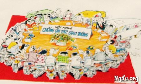 Biếm họa hội nghị chống ùn tắc giao thông