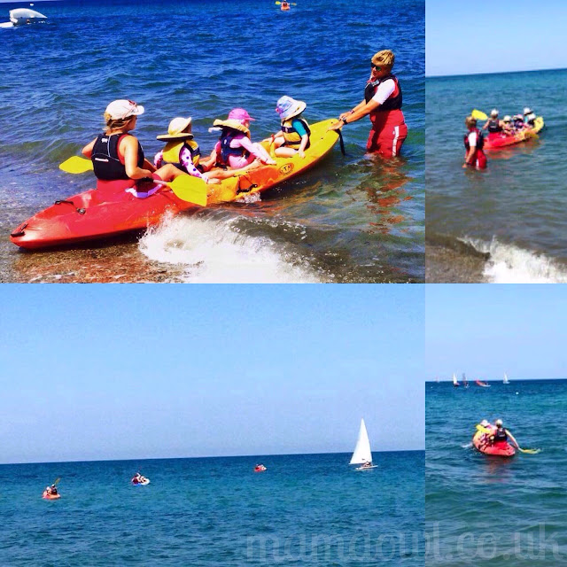 E kayaking with Mark Warner Mini Club