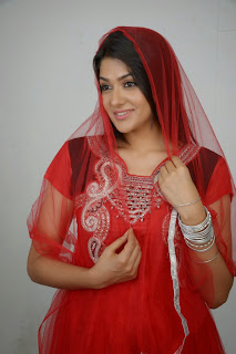 Actress Sakshi Choudhary Latest Picture Gallery in Red Salwar Kameez 0028.JPG