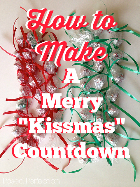 "This Merry ""Kissmas"" Countdown is a sweet way to number the days before Christmas!"