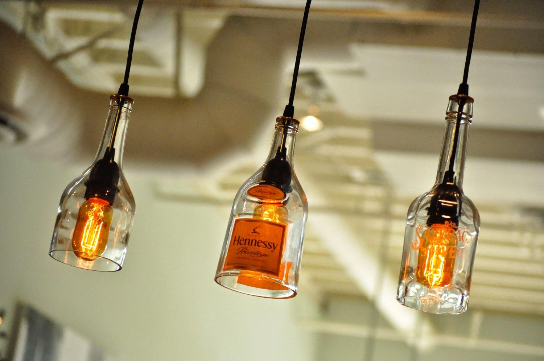 Glass Bottles Used For Lamp