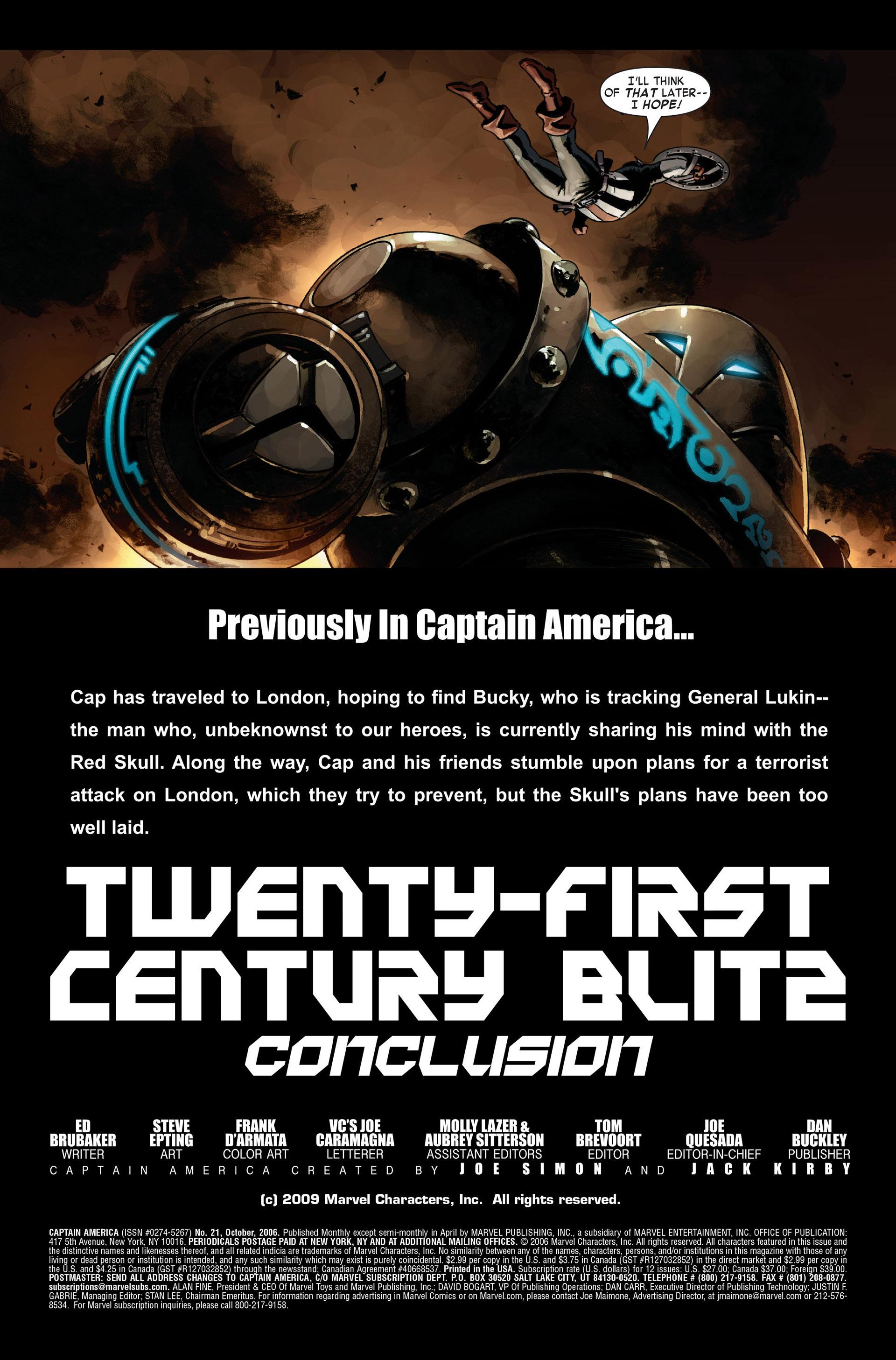 Captain America (2005) Issue #21 #21 - English 3
