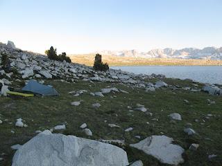 Mein Lager am Mesa Lake