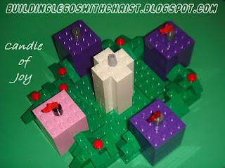 Lego Advent Wreath, Candle of Joy, Christian Lego Creations, Biblical Lego Creations