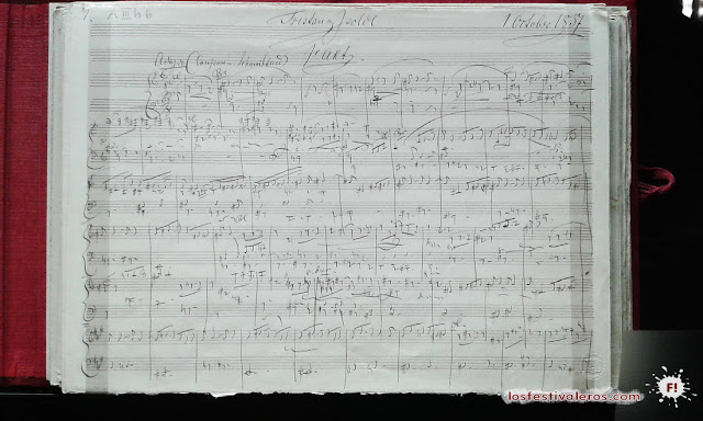 Partitura, Wagner, Tristán e Isolda