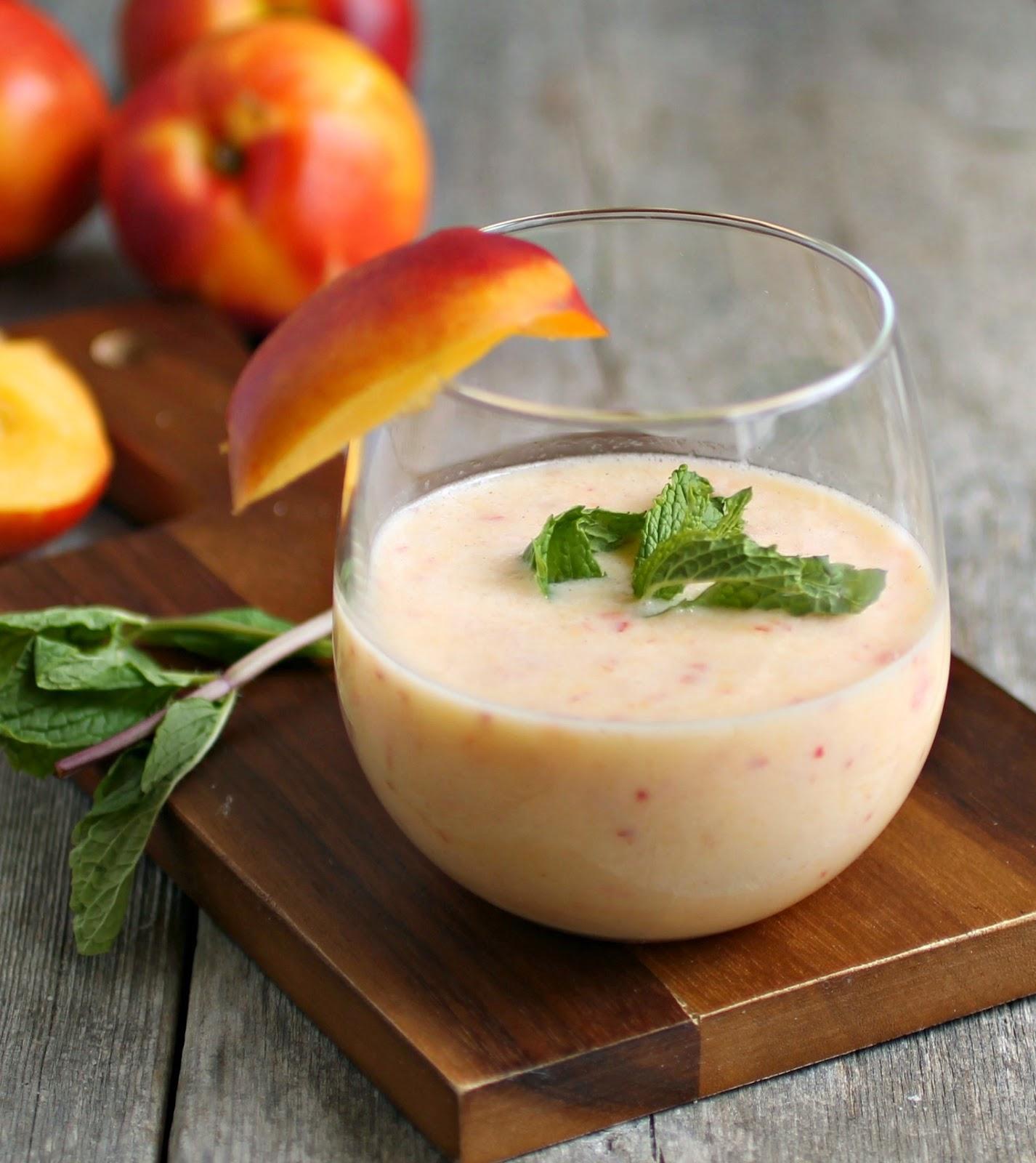 Creamy Frozen Nectarine Blitz Cocktail