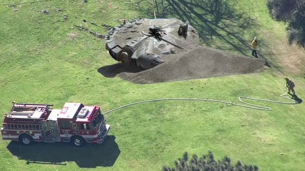 meme campo de golf harrison ford accidente estrello avion