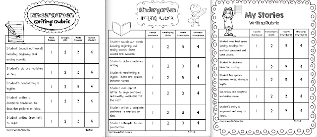 kindergarten writing rubrics Here is a set of three kindergarten writing rubrics designed to meet the common core writing standards for opinion, informative, and narrative writing pieces.