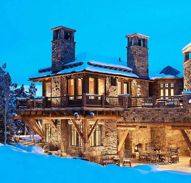 красивый дом в горах