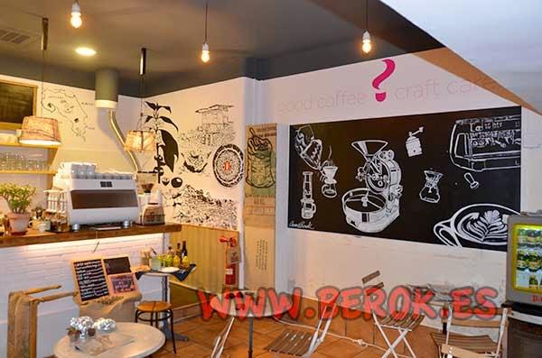 Mural para cafetería Onna Café Bcn