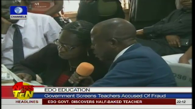 edo state primary teacher unable to read