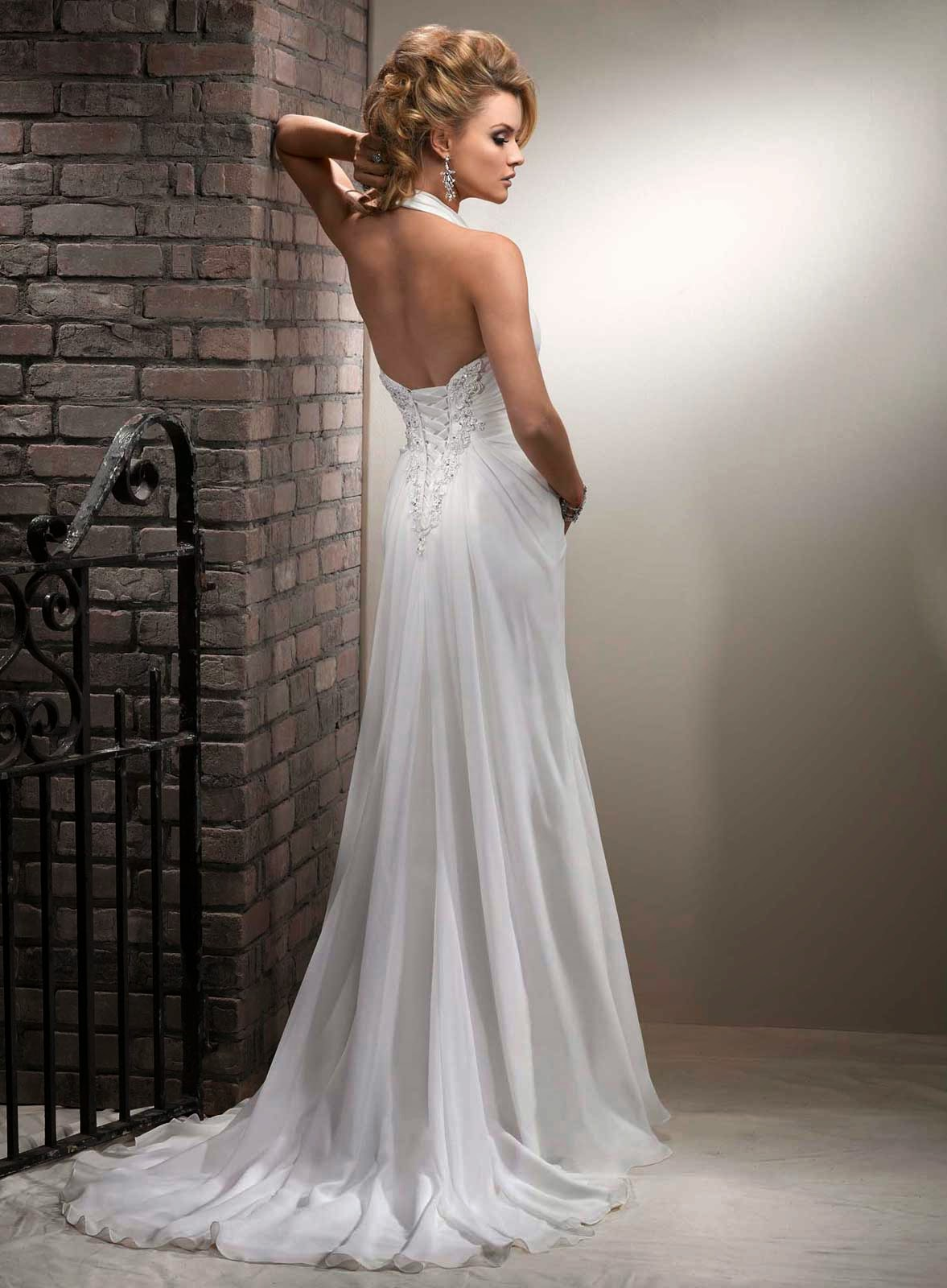 Casual wedding dresses ideas for older brides for Wedding dress for casual wedding