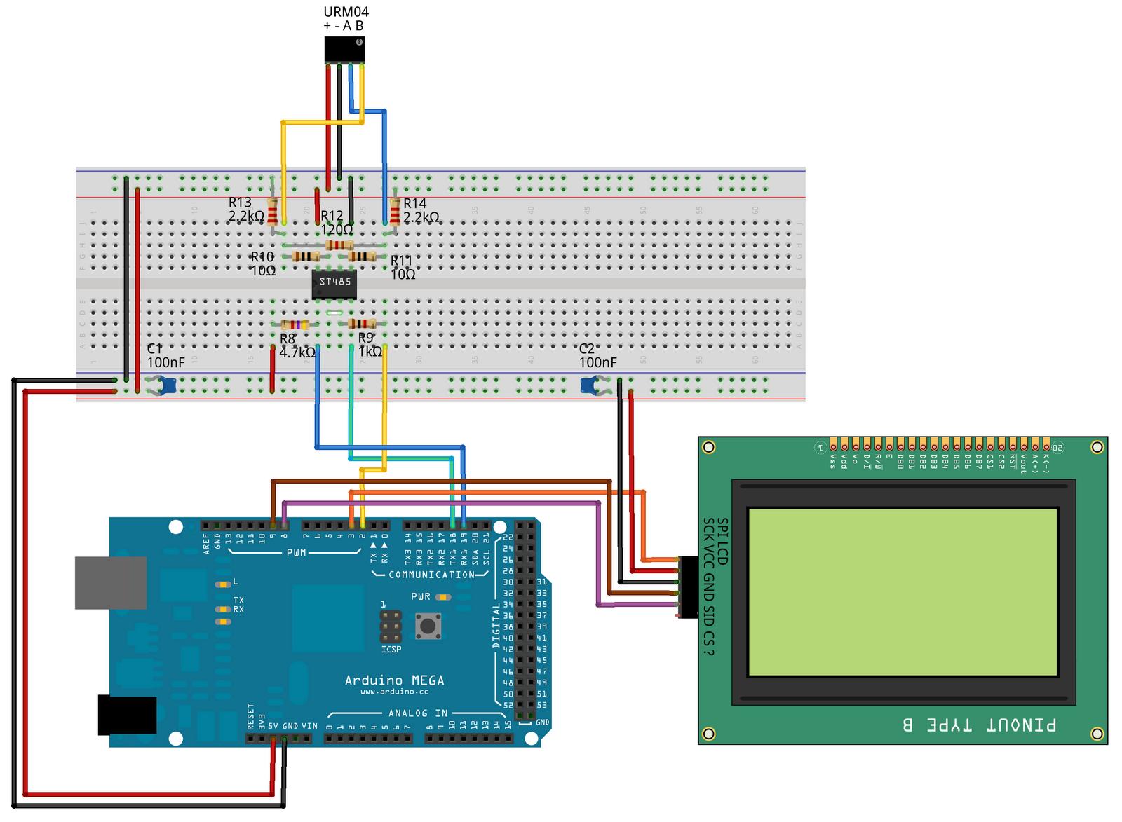Arduino Mega Urm04 V20 Spi Lcdon Arduino I O Expansion