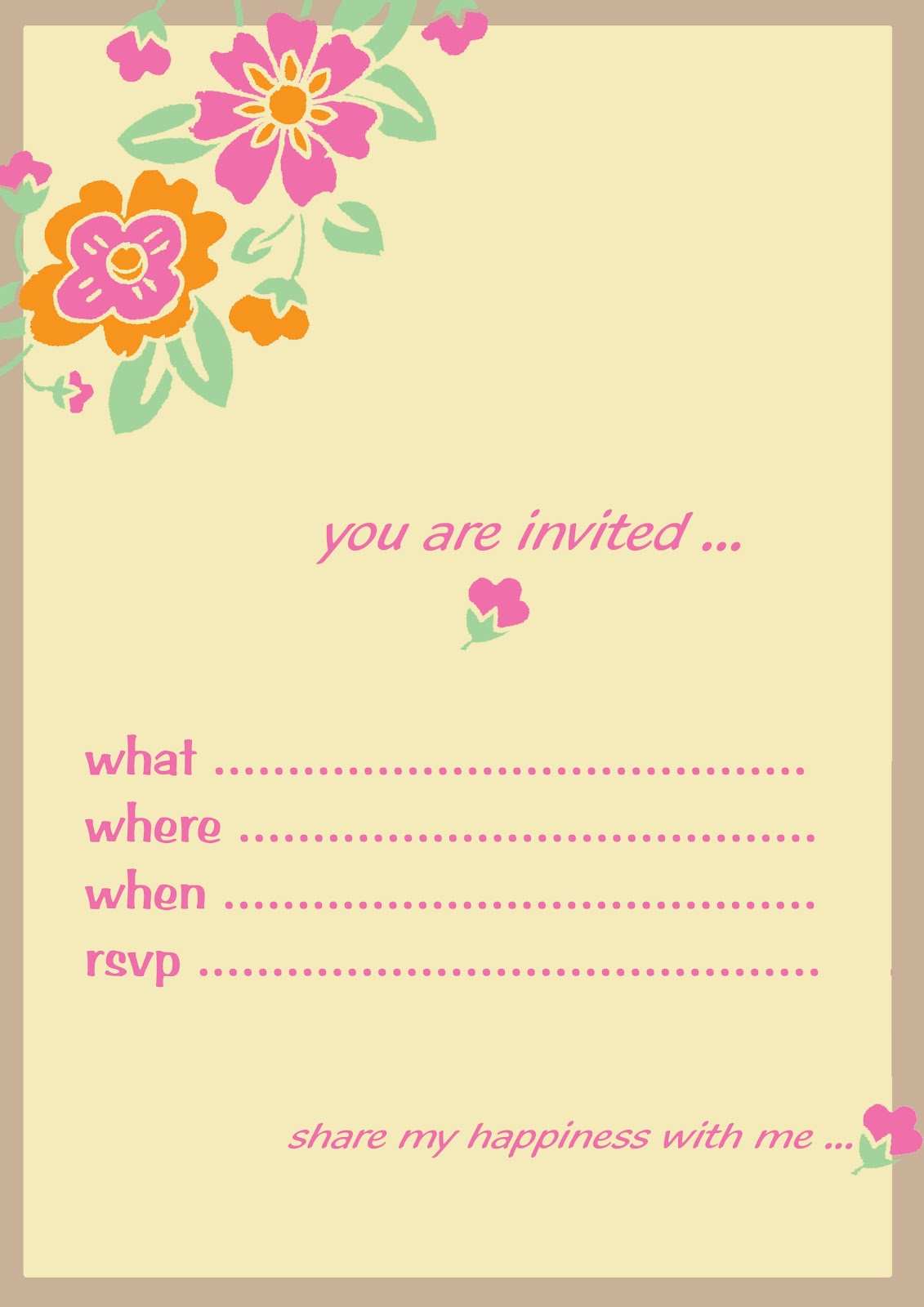 designs for birthday invitations