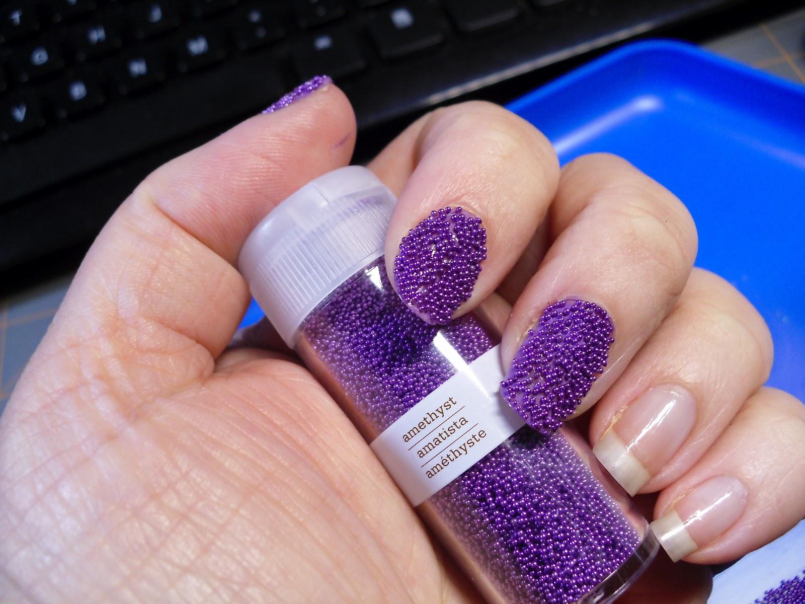 clever soiree caviar nails using martha stewart micro