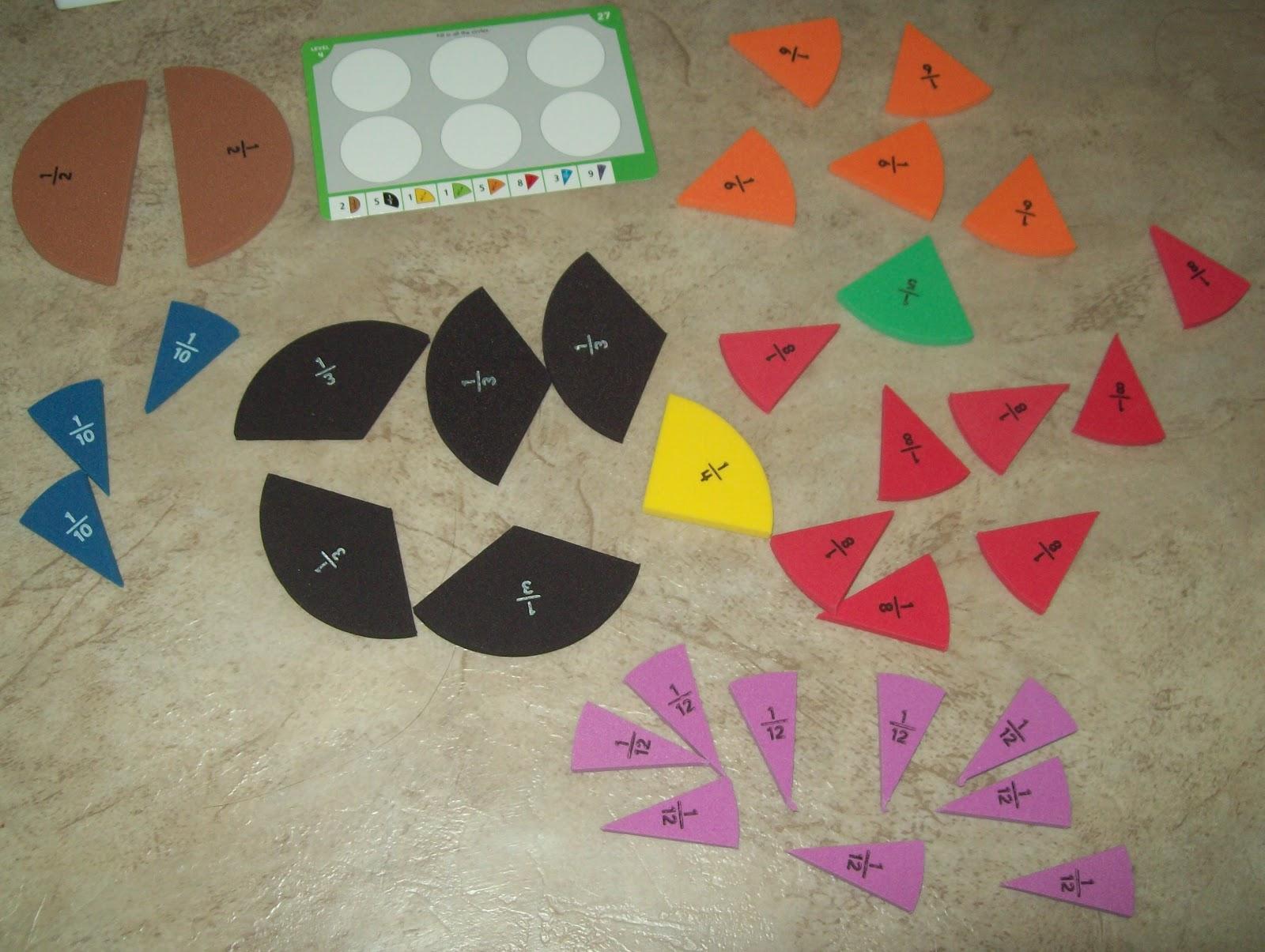 Fraction Pie Puzzles 7 Levels of Fraction Pie