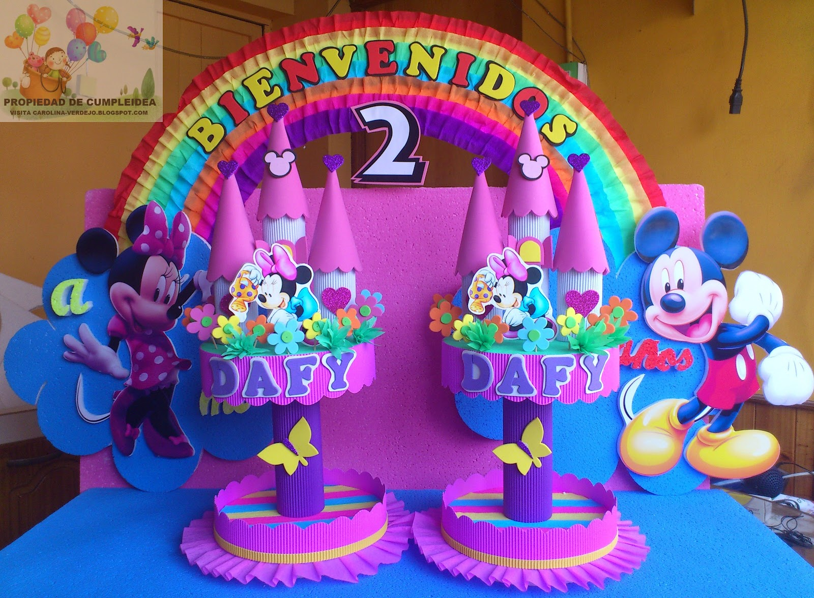 Pin decoraciones infantiles mickey mouse on pinterest for Decoraciones infantiles