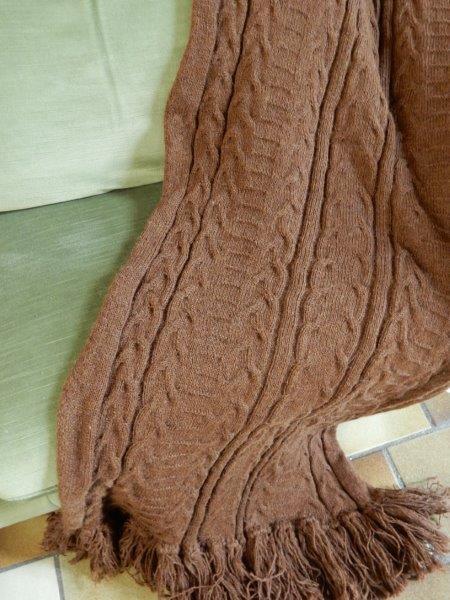 Nieuw shawls/plaids alpacawol.voor interieur.