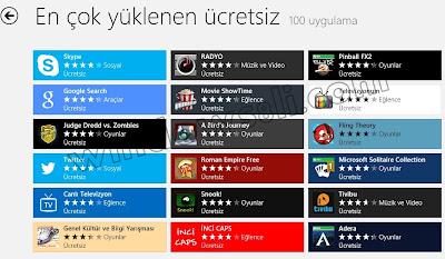 Windows 8 Mağaza