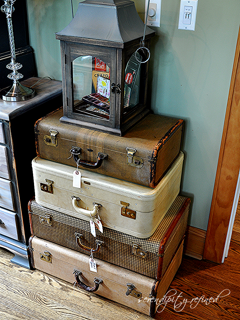 Naver for What to do with vintage suitcases