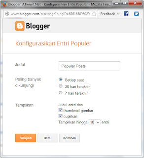 60 detik membuat Popular Posts