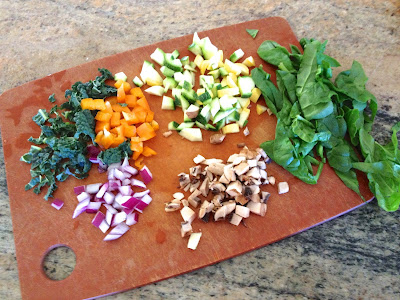Ingredients for Breakfast Veggie Hash
