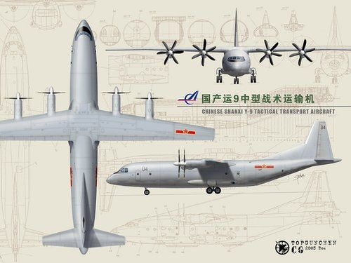 Shaanxi Y-9,Y-9 transport aircraft,Yun -9 transport aircraft,Y -9 transport planes, chinese Y -9,Y -9 pictures