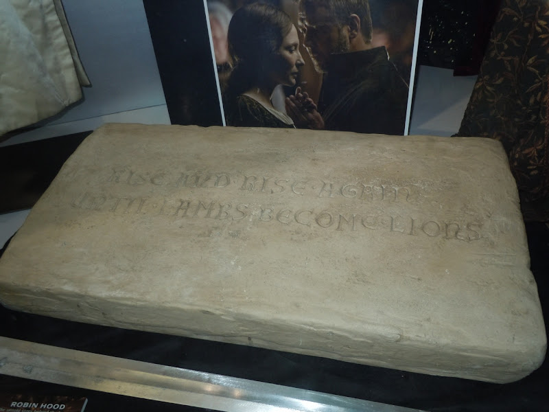 Robin Hood inscribed stone prop