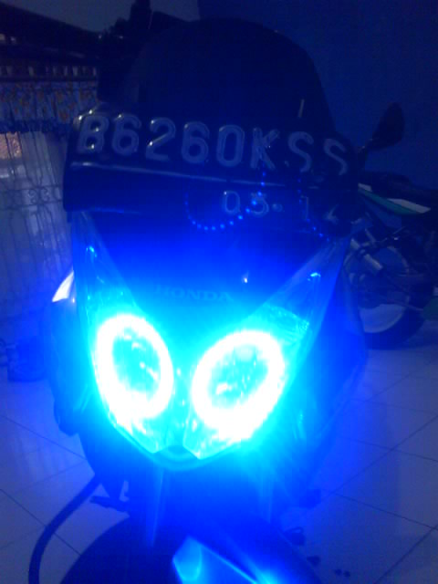 modifikasi lampu angel eyes LED CS-1 title=