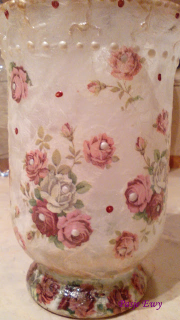 Lampion decoupage