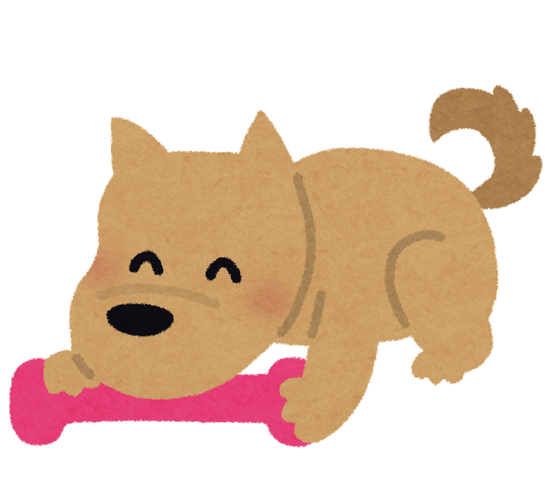 年賀状 2015年賀状テンプレート : おもちゃと遊ぶ犬のイラスト ...