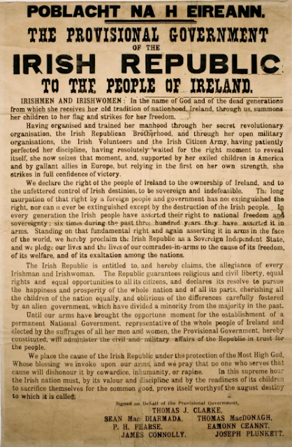 The 1916 Proclamation of the Irish Republic; a real game changer?