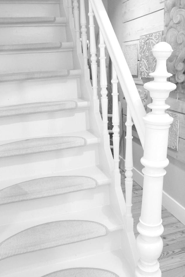 Treppe im schwarzweiß Look