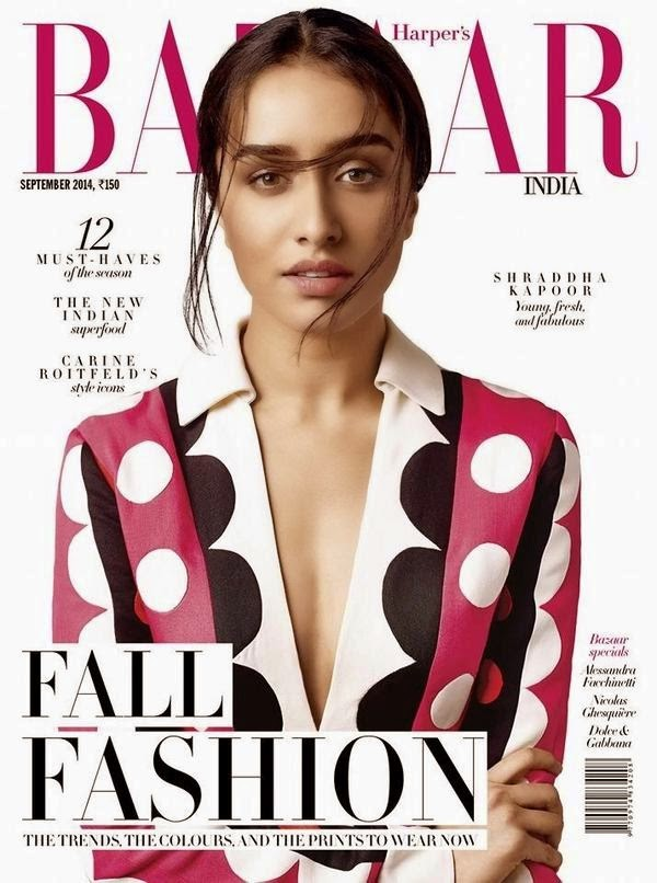 Shradha Kapoor New Magazine Cover Photo | Bazaar India