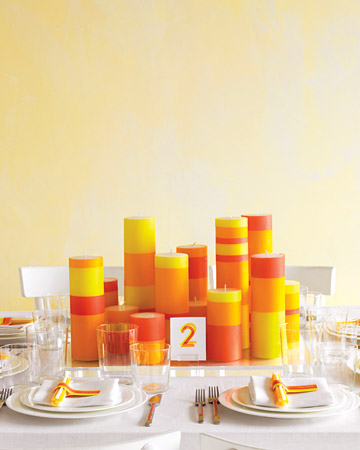 Wedding Centerpiece ideas Dove grey and yellow