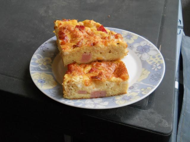 tortino con pane raffermo e prosciutto