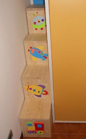 Stedeg blog costruire una scala a gradini per letto a soppalco - Costruire letto a soppalco ...