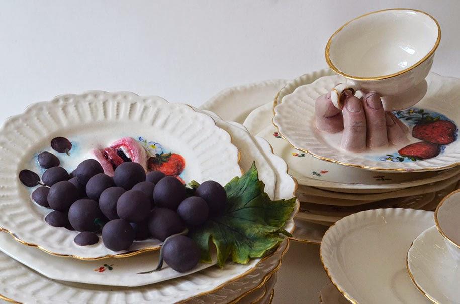 creepy ceramic tableware ronit baranga-1